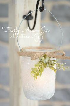 Frosty Mason Jar Lanterns - DIY www.MadamPaloozaEmporium.com www.facebook.com/MadamPalooza