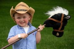All kids must have a stick horse to 'ride' to compete!