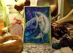 Moon Sprite mini Print/Faerie Print/Fairy by Freerangefaeries