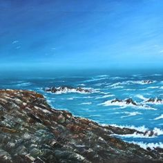 Voir l'image grand format Oil On Canvas, Coastal, Creations, Water, Outdoor, Image, Painted Canvas, The Great Outdoors, Aqua