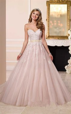 Sexy+Backless+Tulle+Wedding+Dress+New+Designer+Sweetheart+Long+Pink+Lace+Appliques+Wedding+Dress