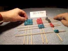 I love this amazing Chinese Multiplication video and have found using different colours to create a simple way to explain it to children. Maths Resources, Math Work, Multiplication, Primary School, Sticks, Bamboo, Chinese, Make It Yourself, Videos