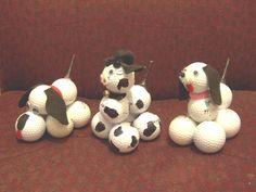 Recycled golf balls