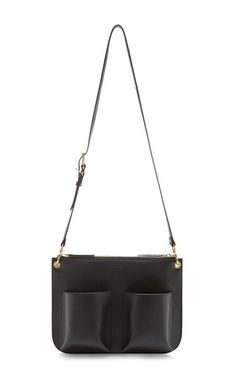 Coal Bandoleer Black Leather Bag by Marni Now Available on Moda Operandi  Fall Winter Spring Summer 25c25883c41d9