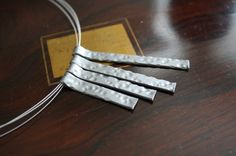 Hammered Metal Effect Necklace by SanityHalo, $25.00 CAD