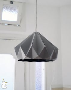 Chestnut paper origami lampshade grey van nellianna op Etsy, €89,00