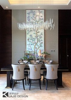 This table is marvelous! The piece that will modify your dining room! Luxury Dining Room, Beautiful Dining Rooms, Dining Room Design, Dining Decor, Dining Room Table, Dining Chairs, Design Bedroom, Bad Inspiration, Dining Room Inspiration
