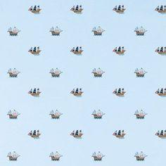 Laura Ashley Pirate Ships Wallpaper