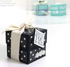 POOTLES Stampin Up UK Small Lidded Cube Box Video Tutorial 3
