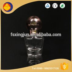Alibaba factory in china cute 7ml clean glass empty nail polish bottle with electroplating cap
