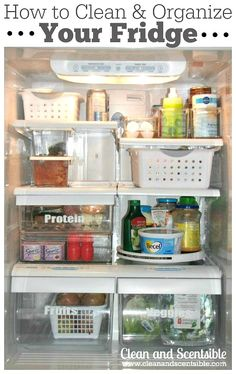 If it irks you to constantly reach past your husband's sweet relish to get to your favorite mustard, consider placing a lazy Susan on a fridge shelf. Then, each condiment (or favorite soda or yogurt!) is only a flick of the wrist away. See more at Clean and Scentsible »  - GoodHousekeeping.com