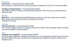 see the details! Tree Camping, Thanksgiving Day Parade, Universal Studios, Orlando, Events, Orlando Florida