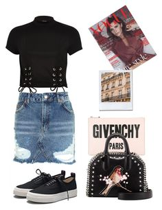 """""""PARIS"""" by oliviaeri ❤ liked on Polyvore featuring Givenchy, Eytys, River Island, Topshop, STELLA McCARTNEY and vintage"""