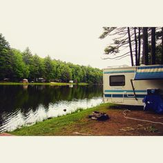 Down by the river is where we like to be! Photo taken at our Sturbridge #campground | #thousandtrails #100DaysofCamping #getoutandcamp #gorving