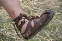 reconstructed caligae, the Roman hobnailed military sandal