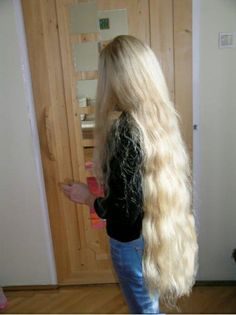 Girl with super long long hair