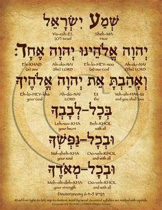 El Shema oración hebrea  Deuteronomio 6: 4-5