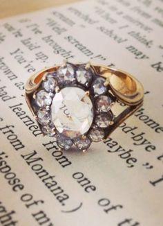 Antique cluster diamond ring by hattie