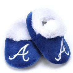 MLB Baby Booties Shoe Slippers Atlanta Braves
