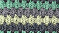 Knitting - Hasp stitch pattern - Rib stripes - Veronika Hug Knitting - Lifting Patterns - Ribbing - Veronika Hug, My Crafts and DIY Projects. Knitting Stitches, Free Knitting, Knitting Patterns, Crochet Double, Quilt Ladder, Baby Boy Blankets, Crochet Yarn, Color Patterns, Crochet Projects