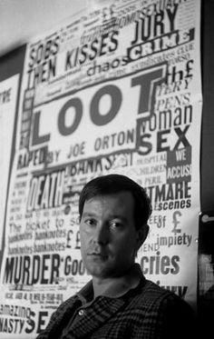 Joe Orton, playwright. Photographed by John Haynes, 1966.