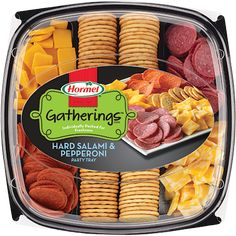 "#ad  #spon FTC guidelines disclose ""I received free product in exchange for my honest review  HORMEL GATHERINGS<sup>®</sup> Hard Salami & Pepperoni Party Tray 28oz"