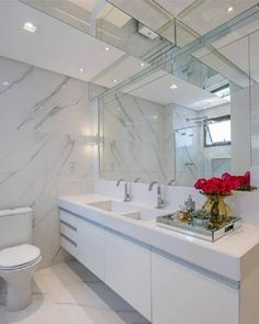 The red roses and succulents in a bathroom! Bathroom Floor Tiles, Bathroom Toilets, Bathroom Layout, White Bathroom, Bathroom Interior, Beautiful Bathrooms, Bathroom Renovations, Home Decor Bedroom, New Homes