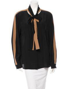 Escada Silk Button-Up Top w/ Tags
