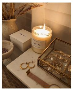 Cream Aesthetic, Gold Aesthetic, Classy Aesthetic, Aesthetic Room Decor, Aesthetic Vintage, Room Ideas Bedroom, My New Room, My Room, Scented Candles