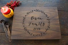 Personalized Holiday Cutting Board Cheese by TheCuttingBoardShop