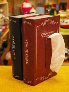book of tissue 洋書型ティッシュケース