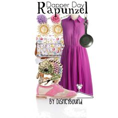 Inspired by Rapunzel from Tangled (via Disneybound) #DapperDay
