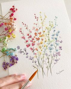 flower art My dream is to have a garden full of these colorful flowers . Double tap if you love journaling! Use and us to Art Floral, Watercolor Flowers, Watercolor Paintings, Watercolors, Easy Watercolor, Watercolour Pencil Art, Water Paint Flowers, Digital Paintings, Digital Art
