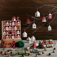 Buy John Lewis 24 Flittered Advent Boxes Online at johnlewis.com
