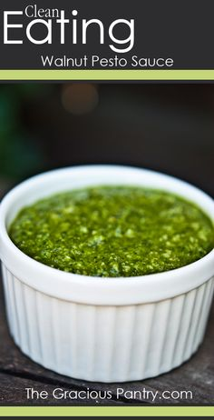 Clean Eating Walnut Pesto Sauce... quick and fresh. Make lots and freeze for later
