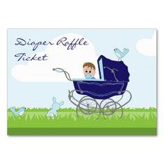 Baby Boy in Pram Diaper Raffle Business Card Boy Cards, Diaper Raffle Tickets, Baby Shower Invitations, Business Cards, Cute Babies, Pregnancy, Baby Boy, Boys, Essentials