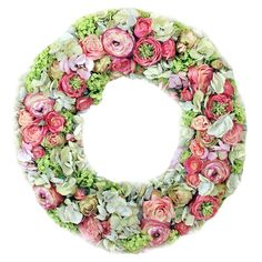 Found it at Wayfair - Sorbet Hydrangea Rose Wreath