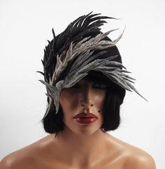 Art decó de fieltro fieltro sombrero fieltro primavera sombrero Nuno Nuno boho folk Silkyfelted