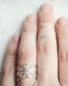 Scalloped rings #wearabledesign  My talented beautiful niece!