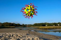 Float, Balloon Sculptures by Janice Lee Kelly Lee Kelly, Janice Lee, Floating Balloons, Urban Landscape, Sculptures, Plants, Plant, Planets, Sculpture