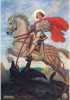 George patron saint of Fine Art Print on Paper made in the UK Patron Saint Of England, Words Of Courage, Saint George And The Dragon, Ancient Words, Fine Art Prints, Canvas Prints, Portrait Images, Patron Saints, Girls Be Like