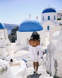 Whites + Blues in Santorini
