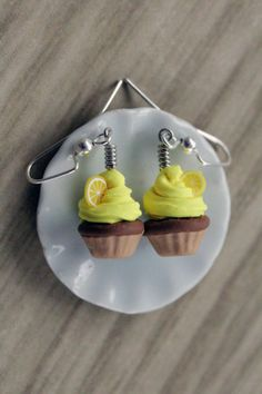 polymer clay food charms | Polymer Clay Miniature Food Jewelry Lemon by MySecretCravings, 14.00