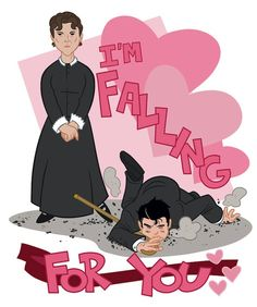 Chad Thomas Downton Valentine's Day cards.   O'Brien is such a nasty lot! Who didn't want to slap her when she tripped poor Mr. Bates??!!!