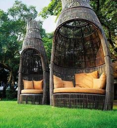 Award Winning Garden Furniture - modern - patio furniture and outdoor furniture - - by Washingtonianfurniture Outside Furniture, Outdoor Garden Furniture, Garden Chairs, Cool Furniture, Outdoor Decor, Outdoor Spaces, Furniture Ideas, Bamboo Furniture, Furniture Dolly
