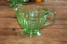 Glassware Federal Patterns | Home > It's All in the Details > Green Depression Glass Rental ...