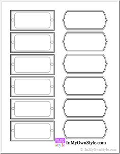 Free Printable Magazine File Labels - inmyownstyle-com