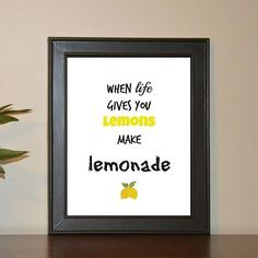Printable quote available now on Etsy. One Of Those Days, Printable Quotes, Lemonade, Printables, Frame, Instagram Posts, How To Make, Etsy, Inspiration