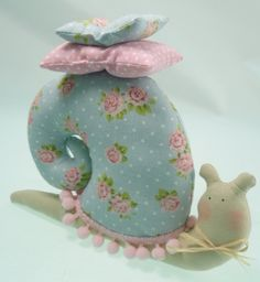 Small stuffed snail