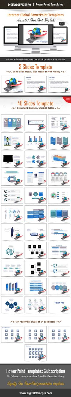 Impress and Engage your audience with Internet Global PowerPoint Template and Internet Global PowerPoint Backgrounds from DigitalOfficePro. Each template comes with a set of PowerPoint Diagrams, Charts & Shapes and are available for instant download.